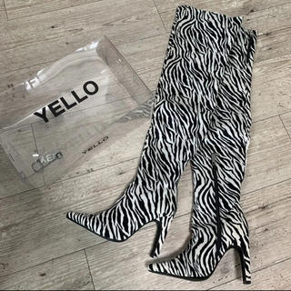イエローブーツ(Yellow boots)のYELLO SAVAGE LONG ブーツ Lサイズ 新品未使用(ブーツ)