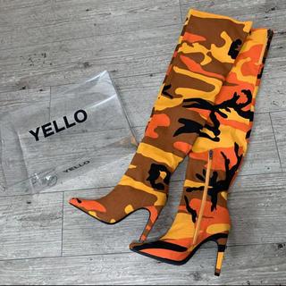 イエローブーツ(Yellow boots)のYELLO M4 LONG ブーツ Lサイズ 新品未使用(ブーツ)