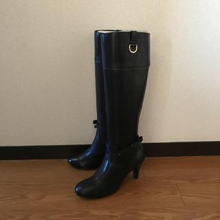 バークレー(BARCLAY)のCelica by Barclay 黒ロングブーツ 24.5cm(ブーツ)