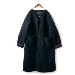 フェリシモ(FELISSIMO)のフェリシモ 漆黒 ボア コート L L L XL(ロングコート)