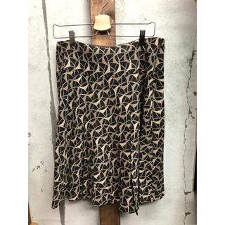 インディヴィ(INDIVI)のインディヴィ 総柄 ギャザー スカート  46(ひざ丈スカート)