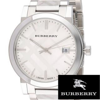 BURBERRY - 【BURBERRY/バーバリー】★新品/メンズ/腕時計/シルバー/チェック/レア