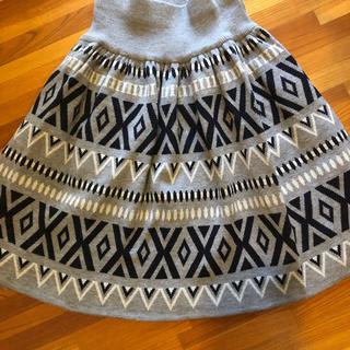 フェリシモ(FELISSIMO)のフェリシモ膝丈ニットスカート L(ひざ丈スカート)
