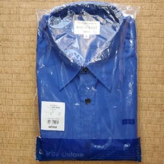 ブルー無地長袖シャツ XL→(L)(シャツ/ブラウス(長袖/七分))