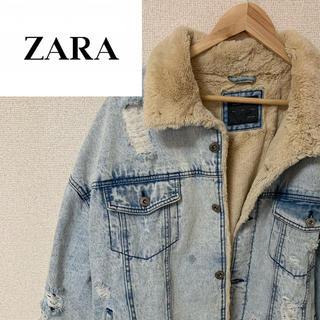 ZARA - 超美品 ZARA デニムジャケット Gジャン ボアジャケット ダメージ加工