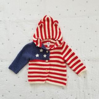 GAP - GAPbabyくまみみカーディガンアメリカ国旗柄