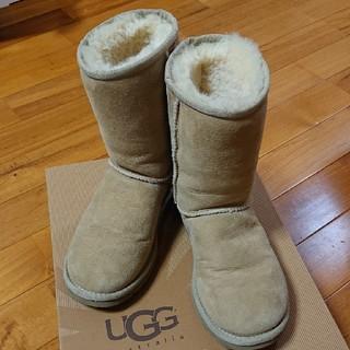 アグ(UGG)の★安い★正規品 22cm UGGaustralia ムートンショートブーツサンド(ブーツ)