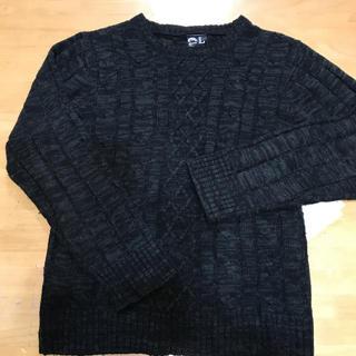 メンズLサイズセーター白グレー(ニット/セーター)