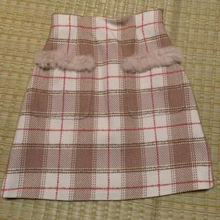 ジルスチュアート(JILLSTUART)のファー付きポケットスカート(未使用品)(ミニスカート)