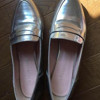 マーキュリーデュオ(MERCURYDUO)のMERCURYDUOシルバーパンプス(ローファー/革靴)