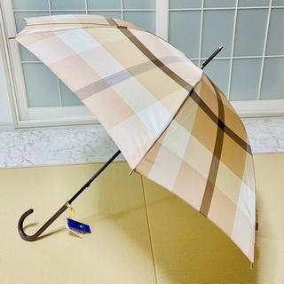 バーバリーブルーレーベル(BURBERRY BLUE LABEL)の新品 未使用 タグ付き ブルーレーベル クレストブリッジ   傘(傘)