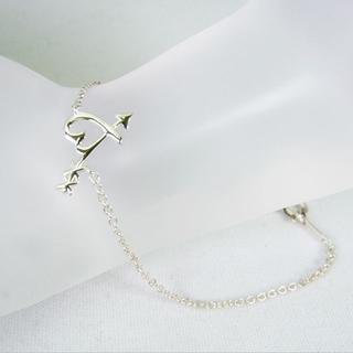 ティファニー(Tiffany & Co.)のティファニー 925グラフティ ハート&アロー ブレスレット[g153-8](ブレスレット/バングル)