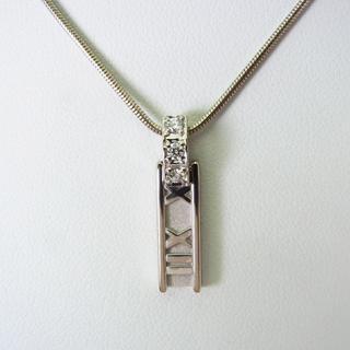 ティファニー(Tiffany & Co.)のティファニー 750WG ダイヤアトラス ペンダント [g153-9](ネックレス)