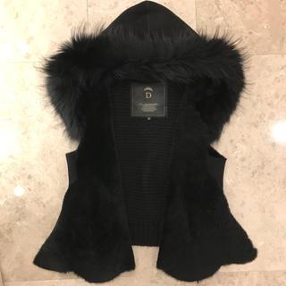 ダブルスタンダードクロージング(DOUBLE STANDARD CLOTHING)の極美品❣️ ダブルスタンダード ファー ムートン ベスト ジレ(ベスト/ジレ)