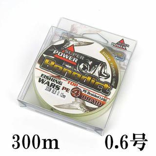 PEライン 5色 マルチカラー 4編 0.6号 300m(釣り糸/ライン)