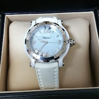 ショパール(Chopard)のショパールChopardハッピースポーツ限定品☆腕時計ホワイト×パステルブルー(腕時計)