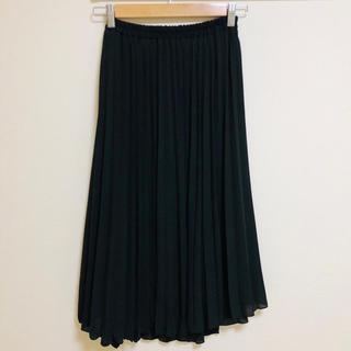 ミスティウーマン(mysty woman)のプリーツスカート 黒 ミスティウーマン(ロングスカート)
