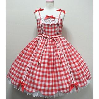 アンジェリックプリティー(Angelic Pretty)のピクニックジャンパースカート picnicJSK(ひざ丈ワンピース)