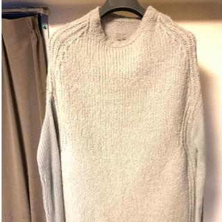 リックオウエンス(Rick Owens)のリックオウエンス 14aw creator knit カシミヤアルパカ グレー(ニット/セーター)
