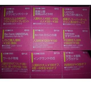 カドカワショテン(角川書店)の関西春ウォーカー🉐クーポン 公園や温泉等 15枚(その他)