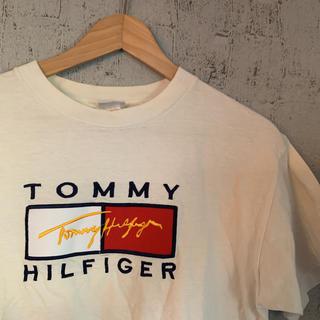 トミーヒルフィガー(TOMMY HILFIGER)のTOMMY HILFIGER Tシャツ トミーヒルフィガー ロゴ  古着 古着屋(Tシャツ/カットソー(半袖/袖なし))