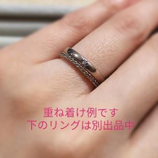 ヨンドシー(4℃)の4℃ シルバー リング ピンクシルバー ダイヤモンド 1粒 ストレート(リング(指輪))