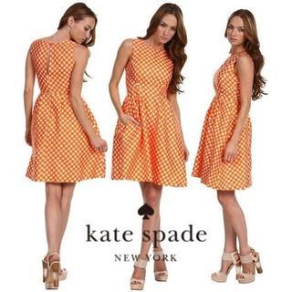ケイトスペードニューヨーク(kate spade new york)の【美品】ケイトスペードニューヨーク ワンピース 0(ひざ丈ワンピース)