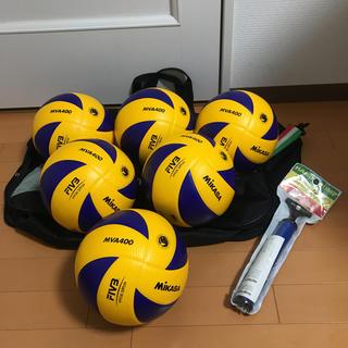 ミカサ(MIKASA)の美品 ミカサ バレーボール 4号球 検定球 MVA400 6球セット おまけ付き(バレーボール)