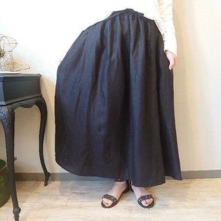 ネストローブ(nest Robe)の20SS 08Mab(ゼロハチマブ) リネン100% ドラマチックスカート (ロングスカート)