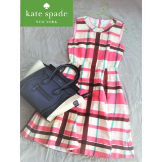 ケイトスペードニューヨーク(kate spade new york)の【美品】ケイトスペードニューヨーク ワンピース 00(ひざ丈ワンピース)