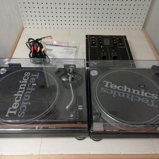 パナソニック(Panasonic)の箱有/Technics SL-1200MK3D黒×2、ミキサーセット(ターンテーブル)
