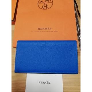 エルメス(Hermes)のエルメス シチズンツイル 長財布 ブルー(長財布)