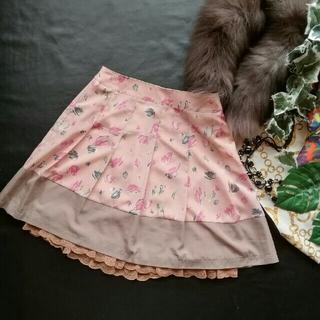 エルディープライム(LD prime)の♪LDプライム♪レースつき花柄スカート♪ロイヤル♡LODISPOTTO♡アクシー(ミニスカート)