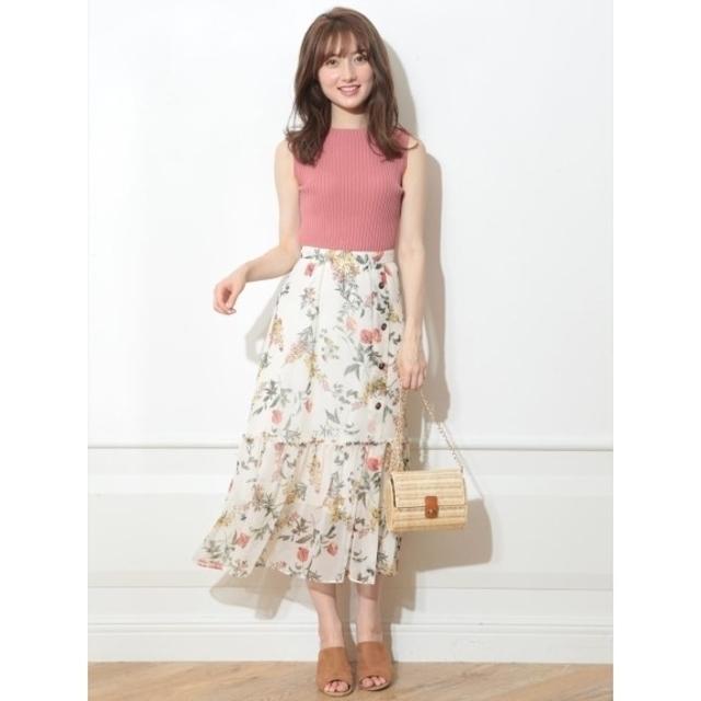 Rirandture(リランドチュール)の【新品タグ付】リランドチュール エアリーボタニカルスカート  レディースのスカート(ロングスカート)の商品写真