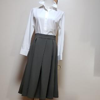 ジーユー(GU)のスカート グレー gu(ひざ丈スカート)