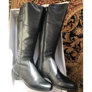 フィットフィット(fitfit)の美品 fitfit ロングレザーブーツ 23.5cm(ブーツ)