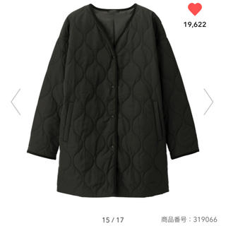 GU - gu キルティングコート ブラック S