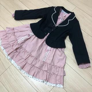 シャーリーテンプル(Shirley Temple)の卒園 入学 シャーリーテンプル 120cm ワンピース ピンク(ドレス/フォーマル)