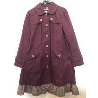 ピンクハウス(PINK HOUSE)のピンクハウス コート 裾ピコフリル(ロングコート)