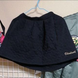 しまむら - ♡140cm 黒 キルト生地 ミニスカート♡