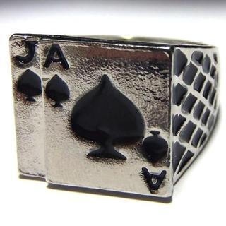 送料無料 トランプ 指輪 リング 手品・マジックの好きな方に 19号(リング(指輪))