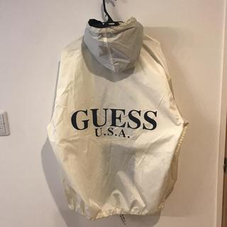 ゲス(GUESS)のGUESS ゲス ナイロンジャケット ビッグロゴ 90年代風ビッグシルエット(ナイロンジャケット)