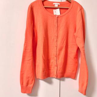 エイチアンドエム(H&M)の新品 ニットカーディガン オレンジ(カーディガン)