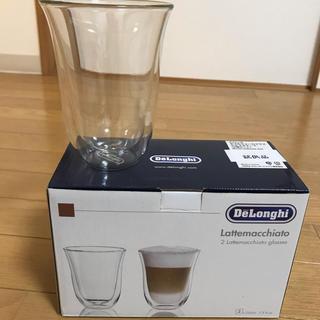 デロンギ(DeLonghi)のデロンギ ダブルウォールグラス ラテマキアート 2個セット(グラス/カップ)