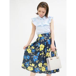 トランテアンソンドゥモード(31 Sons de mode)の大花柄プリント フレアスカート(ロングスカート)