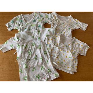 ホットビスケッツ(HOT BISCUITS)の新生児肌着 短肌着 コンビ肌着 長肌着 セット(肌着/下着)