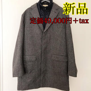 トゥモローランド(TOMORROWLAND)の定価5.3万円!新品未使用 高級 紳士 メンズ チェスターコート XL(チェスターコート)