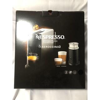 ネスレ(Nestle)の新品 未使用 ネスプレッソエッセンサミニ&エアロチーノセット ピアノブラック(エスプレッソマシン)