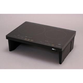 アイリスオーヤマ(アイリスオーヤマ)のIHC-WKG2S-B IHクッキングヒーター ブラック [2口](調理道具/製菓道具)