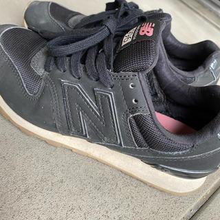 ニューバランス(New Balance)のNB スニーカー♡ 23 黒ピンク (スニーカー)